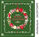 christmas childish greeting... | Shutterstock .eps vector #1615472695