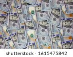 a pile of one hundred us... | Shutterstock . vector #1615475842