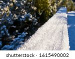 Snow Covered Railing At Jezern...