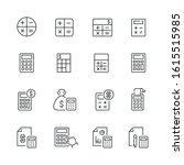 calculation related icons  thin ...   Shutterstock .eps vector #1615515985