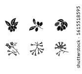 brazilian flora black glyph... | Shutterstock .eps vector #1615518595
