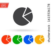 pie chart icon. business circle ... | Shutterstock .eps vector #1615536178