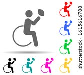 disabled sport rugby sign multi ...