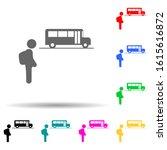 child  school bus multi color...