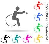 disabled sport boccia sign...