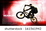 vector of cyclist  | Shutterstock .eps vector #161561942