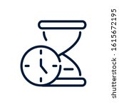 time clock and hourglass timer... | Shutterstock .eps vector #1615672195