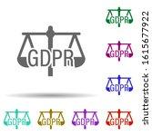 balance  gdpr in multi color...