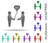 friendship  bff in multi color...