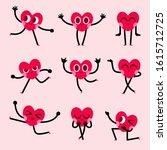 cute heart cartoon character...   Shutterstock .eps vector #1615712725