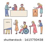 citizens of all ages are voting ... | Shutterstock .eps vector #1615750438