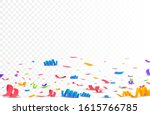 Confetti on the ground on transparent background