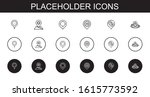 placeholder icons set....
