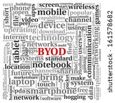 byod   bring your own device... | Shutterstock . vector #161578682