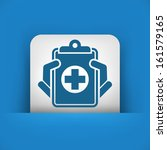 medical records icon   Shutterstock .eps vector #161579165