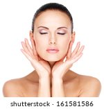 beautiful healthy  face of the... | Shutterstock . vector #161581586