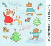 stylish new year and christmas... | Shutterstock .eps vector #161581742