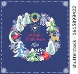 christmas craft retro greeting... | Shutterstock .eps vector #1615898422