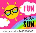 cut sun cartoon illustration... | Shutterstock .eps vector #1615918645