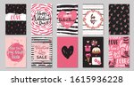 big set of valentine's day... | Shutterstock .eps vector #1615936228