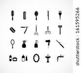 set of hairdressing equipment... | Shutterstock .eps vector #161595266