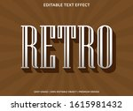 retro text effect template with ... | Shutterstock .eps vector #1615981432