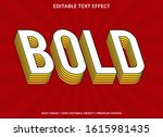 bold text effect template with... | Shutterstock .eps vector #1615981435