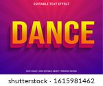 dance text effect template with ... | Shutterstock .eps vector #1615981462