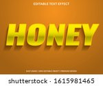 honey text effect template with ... | Shutterstock .eps vector #1615981465