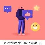 male character holding huge...   Shutterstock .eps vector #1615983532