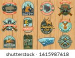 set of hunting club patch....   Shutterstock .eps vector #1615987618