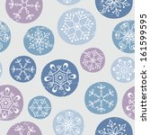seamless snowflakes pattern | Shutterstock .eps vector #161599595