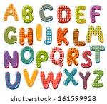 colorful alphabet letters | Shutterstock .eps vector #161599928