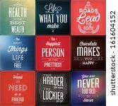 set of vintage typographic... | Shutterstock .eps vector #161604152