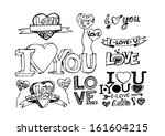 i love you valentine's day | Shutterstock .eps vector #161604215