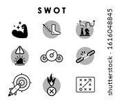 swot  strengths  weaknesses ... | Shutterstock .eps vector #1616048845
