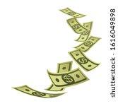 banner with money. rain of... | Shutterstock .eps vector #1616049898