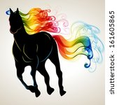 Beautiful Running Horse Black...
