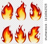 fire flames set and line light... | Shutterstock .eps vector #1616062525
