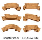 set of wooden banners with... | Shutterstock .eps vector #1616062732