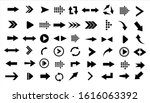 arrows big black set icons.... | Shutterstock .eps vector #1616063392