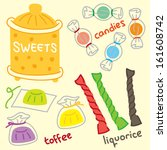 set of candy | Shutterstock .eps vector #161608742