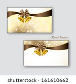 greeting cards with golden... | Shutterstock .eps vector #161610662