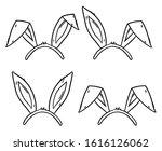 hand drawn bunny ears vector...   Shutterstock .eps vector #1616126062
