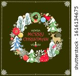 christmas greeting craft card... | Shutterstock .eps vector #1616134675