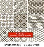 vector set  9 geometric... | Shutterstock .eps vector #161616986