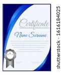 elegant certificate template... | Shutterstock .eps vector #1616184025