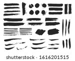 black damaged brush strokes.... | Shutterstock .eps vector #1616201515