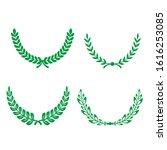 green realistic set of circular ... | Shutterstock .eps vector #1616253085
