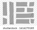 set masking tape. torn tape.... | Shutterstock .eps vector #1616270185